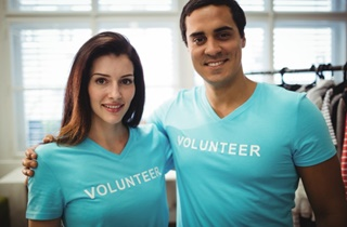 Couple Volunteering